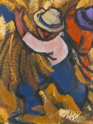 (n/a) Hendrik Christiaan Niemann (South African, born 1941) The harvesters, a set of three each