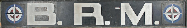 A large BRM factory sign,