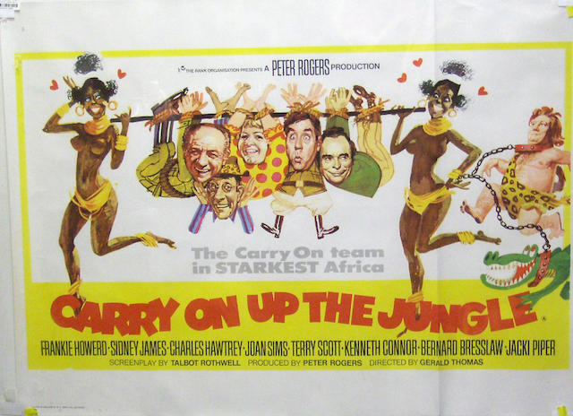A collection of sixteen Carry On and British comedy film posters, all being U.K Quad and Bus Stop format posters, comprising,