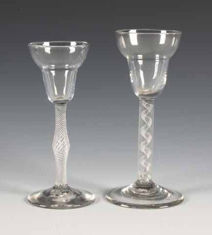 Two pan-top airtwist wine glasses