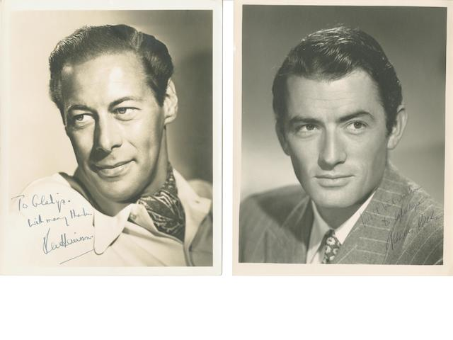 A collection of film star autographs,