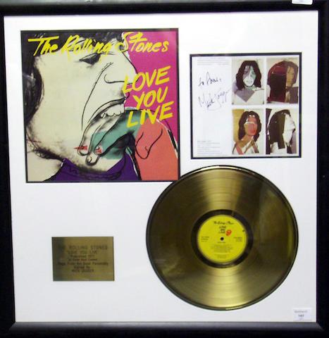 Mick Jagger signature,