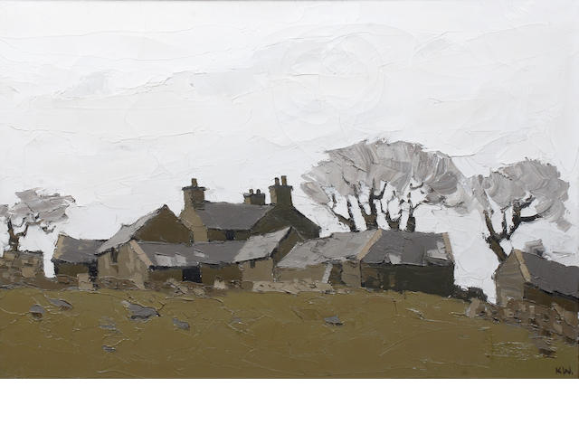 Kyffin Williams, oil on canvas, North Wales Farm (Anglesey)