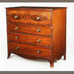 A Regency mahogany secretaire chest