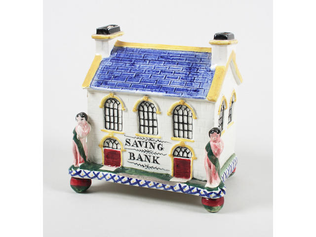 A Yorkshire pottery moneybox