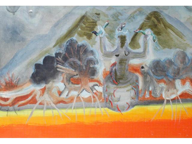 Winifred Nicholson (British, 1893-1981) Mountain Goddess, 1967