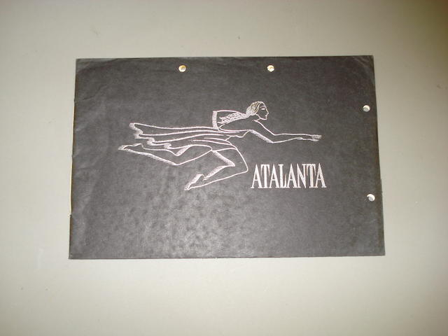 An Atalanta sales brochure, 1937,