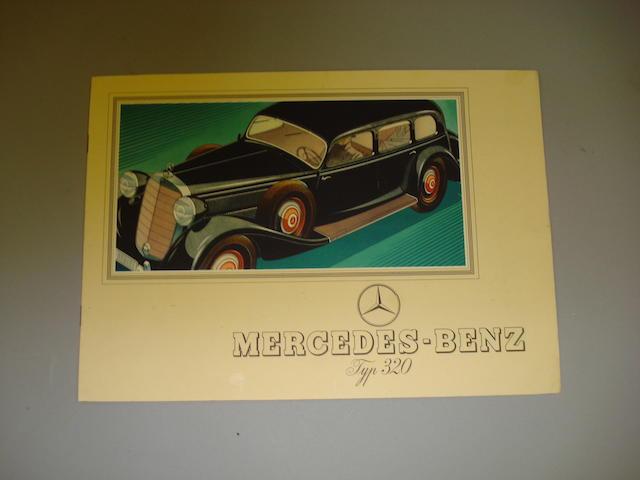A Mercedes-Benz type 320 sales brochure, circa 1939,