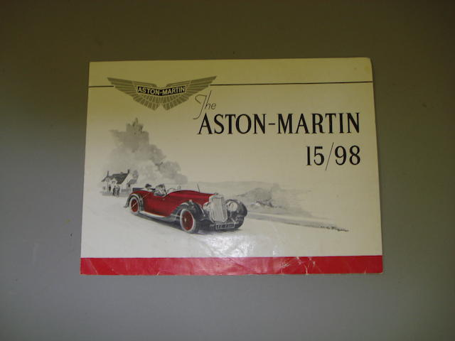 An Aston Martin 15/98 sales brochure, 1937,
