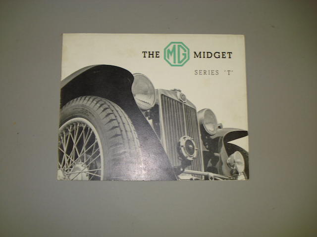 An MG Midget series 'T' sales brochure, 1937,