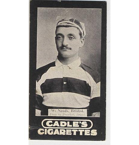 Cadles Footballers set (20), G-VG.
