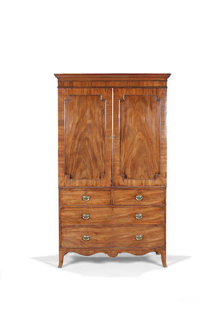 A Regency mahogany linen press circa 1810