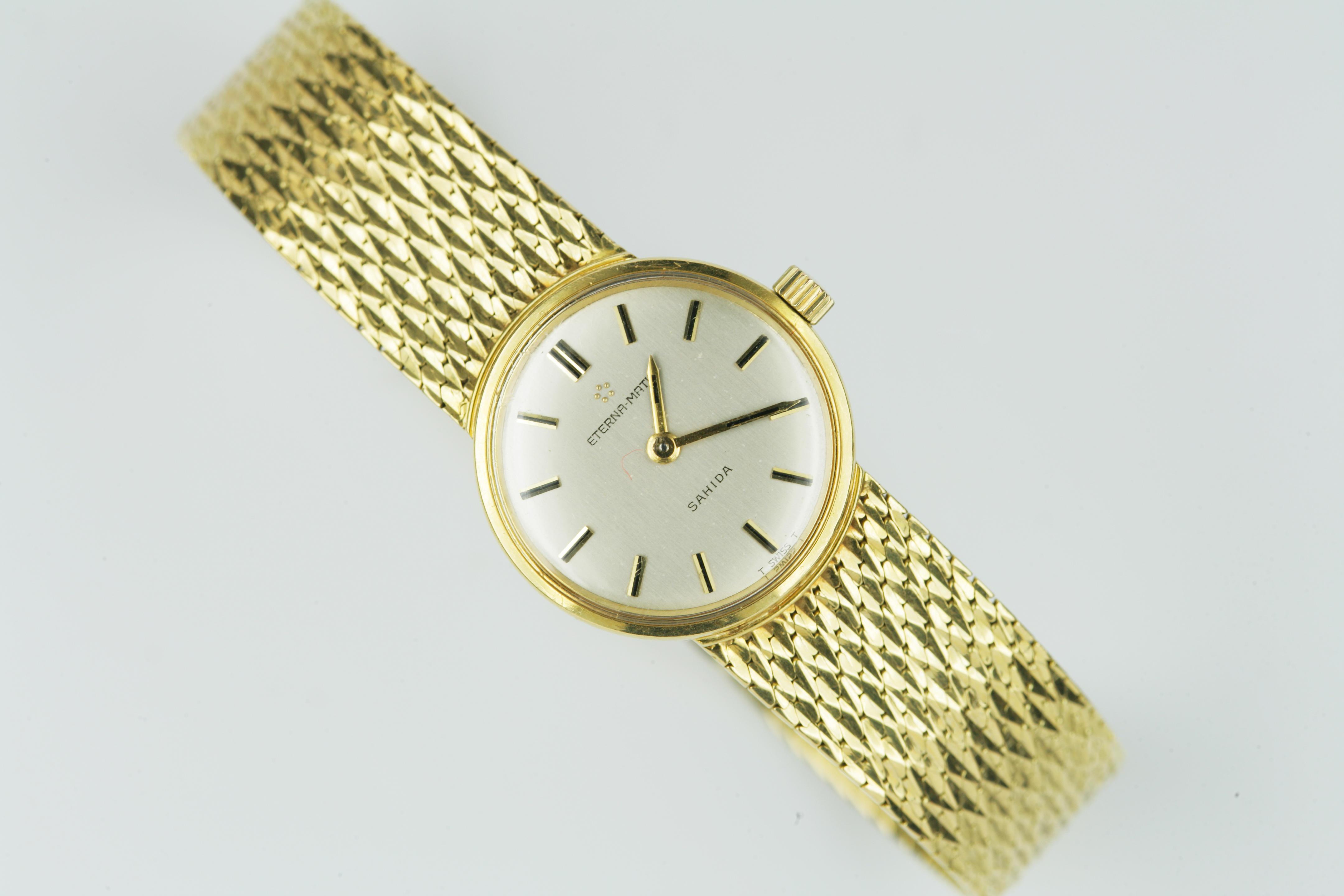 A lady's 18ct gold wristwatch, by Eterna
