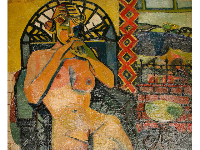 Robert Hunt, 20th Century Seated nude