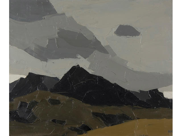 Sir Kyffin Williams, R.A. (British, 1918-2006) Mountain tops