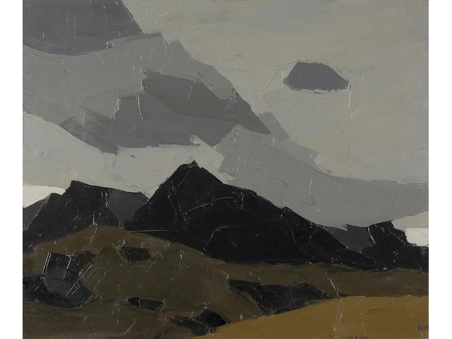 Sir Kyffin Williams, R.A. (British, 1918-2006) Mountain tops