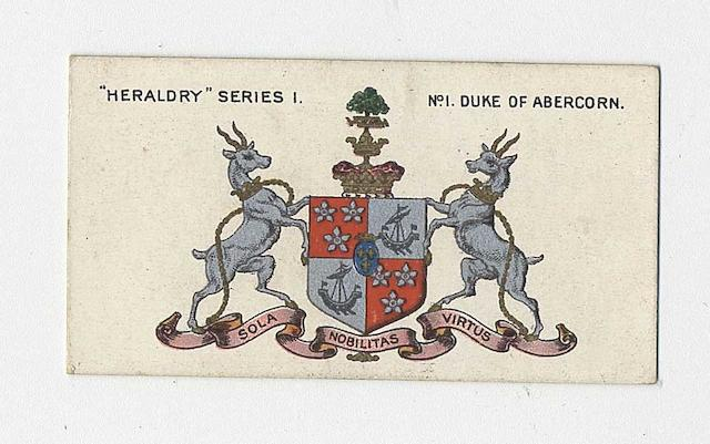 Taddy Heraldry set (25  1), G-VG.