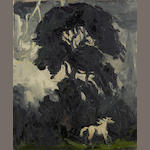 Sir Kyffin Williams, R.A. (British, 1918-2006) The Frightened Foal