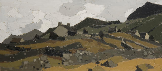 "Sir Kyffin Williams, R.A. (British, 1918-2006) ""Nazareth, Caernarvon"""