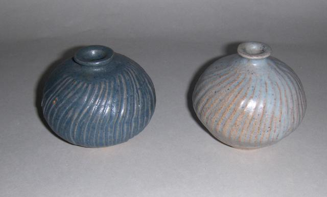 Katharine Pleydell Bouverie two small Pots Height of taller vase 8cm (3 1/8in.)