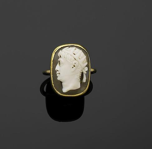 A 19th century cameo ring