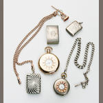 A collection of gentleman's jewellery including two pocket watches