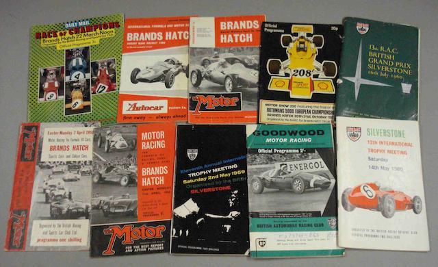 Ten British race programmes,