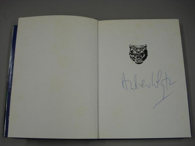 A signed copy of Andrew Whyte: Jaguar - The History of a Great British Car;