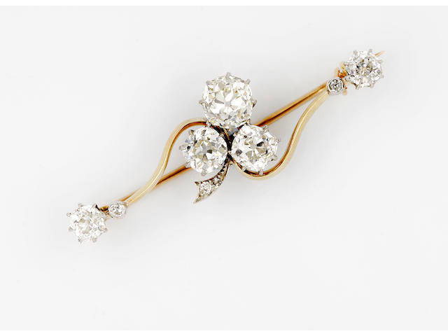 A Victorian diamond brooch,