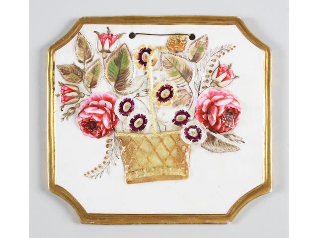 An unusual English Porcelain plaque Circa 1825