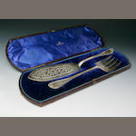 A pair of Victorian fish servers George Adams, London 1869