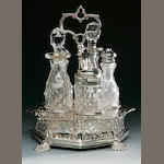 A Victorian silver cruet maker's mark GR&GS, London 1844
