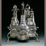 A George II Warwick cruet by Samuel Wood, London 1743