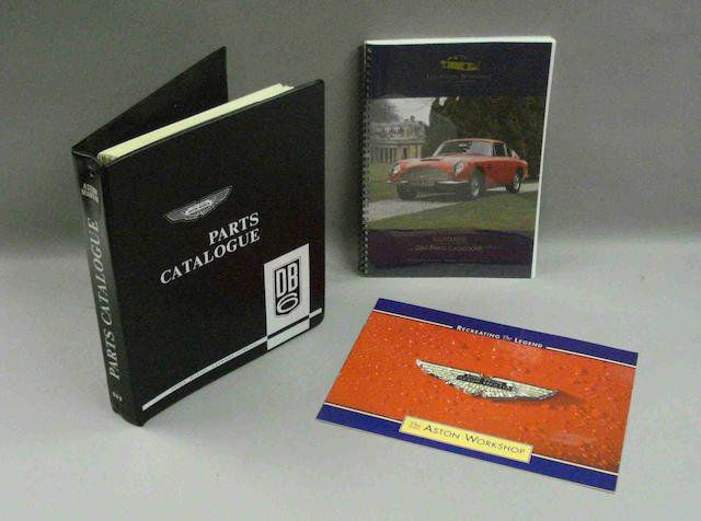 An Aston Martin DB6 parts catalogue,