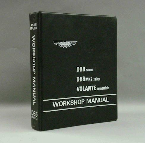 An Aston Martin DB6 workshop manual,
