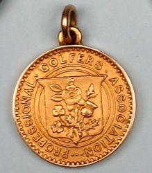 Harry Vardon: A cased gold 1914  medal 'Ryle Memorial'