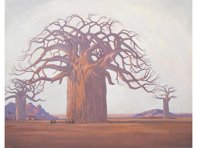 Jacob Hendrik Pierneef (South African, 1886-1957) The baobab tree