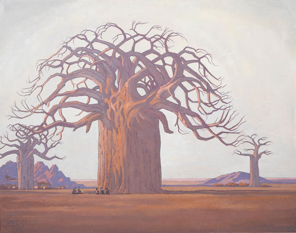 Jacob Hendrik Pierneef (South African, 1886-1957) The Baobab Tree