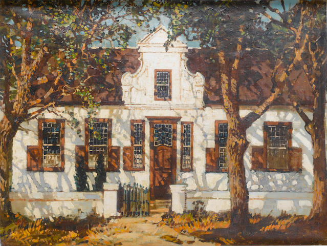 Robert Gwelo Goodman (South African, 1871-1939) Cape Dutch farmhouse