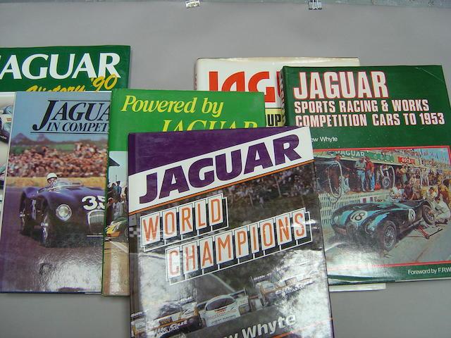 Six Jaguar motorsport books,
