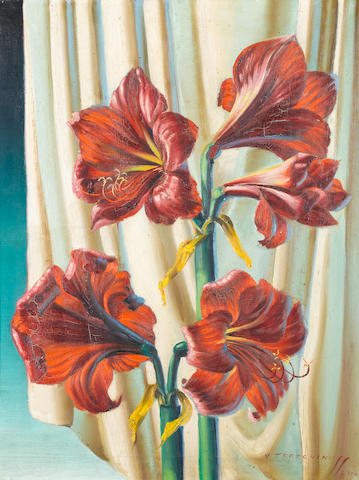 Vladimir Tretchikoff (South African, 1913-2006) Red lilies