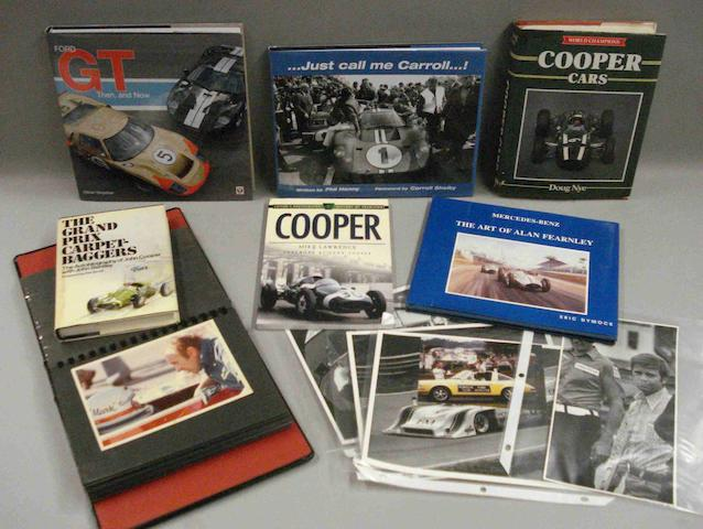 Six motorsport related books,