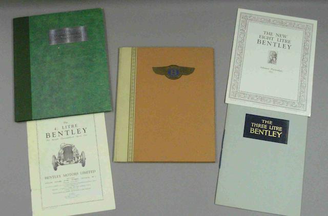 A 6½ Litre Bentley sales brochure, catalogue number 27, October 1928,