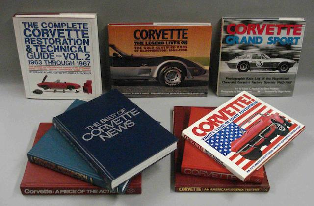 A lot of literature relating to Corvette cars,