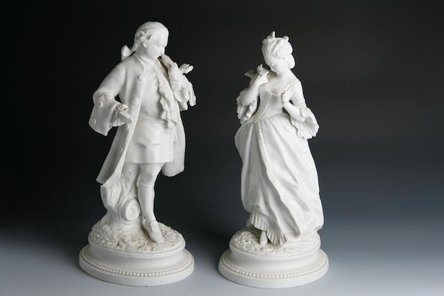 A pair of Parian figures French, 19th century