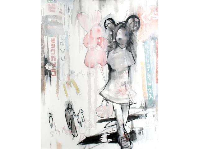 Antony Micallef (British, born 1975) 'Girl with Balloons', 2005
