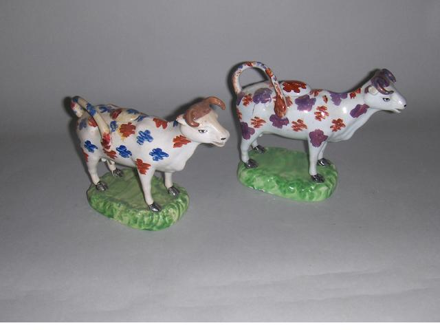 Two Swansea cow creamers