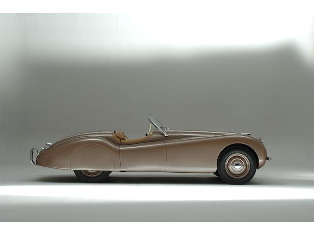 The first steel-bodied, right-hand drive,1950 Jaguar XK120 Roadster  Chassis no. 660059 Engine no. W1257-7