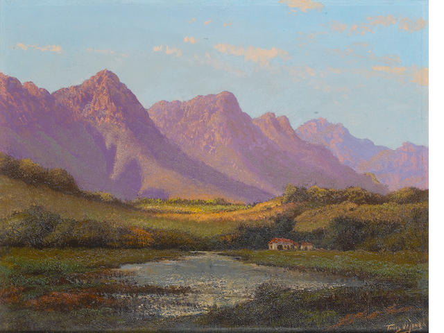 Tinus de Jongh, Purple Mountains, oil