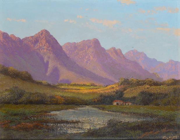 Tinus de Jongh, Purple Mountains, oil